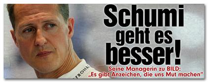 """Schumi geht es besser! - Seine managerin zu BILD: """"Es gibt Anzeichen, die uns Hoffnung machen"""""""