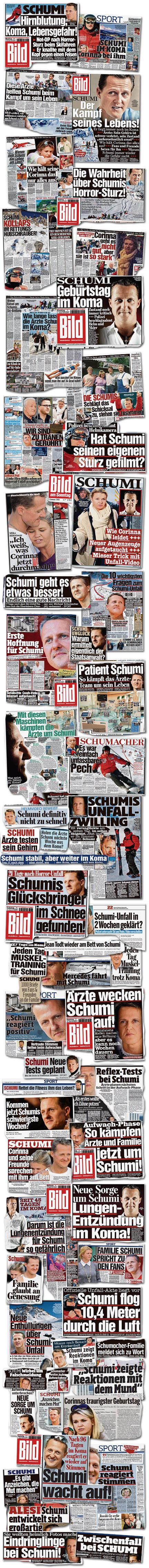 """Ausrisse: """"Bild"""" und """"Bild am Sonntag"""" vom 30.12.2013 bis 12.04.2014"""
