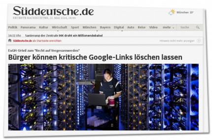 Screenshot: Sueddeutsche.de