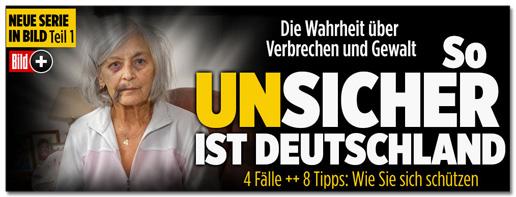 Screenshot Bild.de - Neue Serie in Bild: Die Wahrheit über Verbrechen und Gewalt - So unsicher ist Deutschland