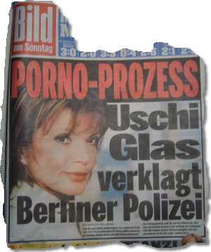 PORNO-PROZESS: Uschi Glas verklagt Polizei