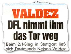 """Valdez: DFL nimmt ihm das Tor weg"""