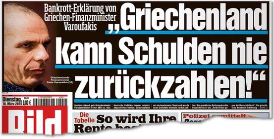 Bankrott-Erklärung von Griechen-Finanzminister Varoufakis: 'Griechenland kann Schulden nie zurückzahlen!'
