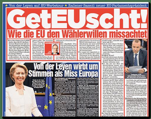 Ausriss BILD: GetEUscht! - Wie die EU den Wählerwillen missachtet