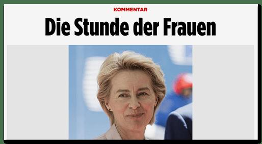 Screenshot BILD.de: Kommentar - Die Stunde der Frauen