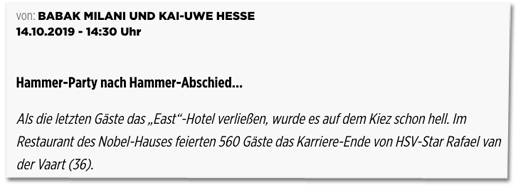 Screenshot Bild.de - Autoren: Babak Milani und Kai-Uwe Hesse, veröffentlicht am 14. Oktober 2019 um 14:30 Uhr