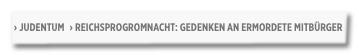 Screenshot Bild.de - Reichsprogromnacht: Gedenken an ermordete Mitbürger