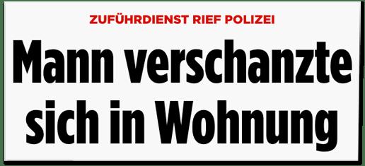 Screenshot Bild.de - Zuführdienst rief Polizei - Mann verschanzte sich in Wohnung