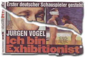 """""""Erster deutscher Schauspieler gesteht - Jürgen Vogel: Ich bin Exhibitionist"""""""