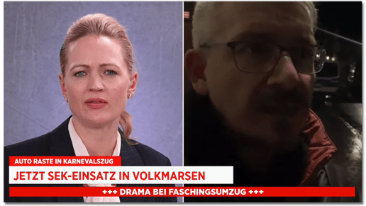 Screenshot Bild live - Auto raste in Karnevalszug - Jetzt SEK-Einsatz in Volkmarsen - Drama bei Faschingsumzug