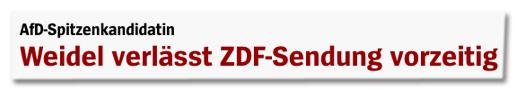 Screenshot Spiegel Online - AfD-Spitzenkandidatin - Weidel verlässt ZDF-Sendung vorzeitig
