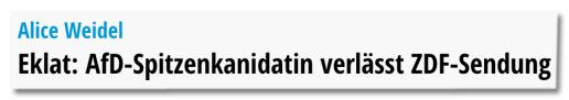 Screenshot ruhrnachrichten.de - Eklat: AfD-Spitzenkandidatin verlässt ZDF-Sendung