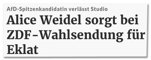 Screenshot RP Online - AfD-Spitzenkandidatin verlässt Studio - Alice Weidel sorgt bei ZDF-Wahlsendung für Eklat