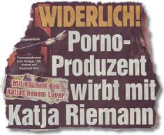 WIDERLICH! Porno-Produzent wirbt mit Katja Riemann