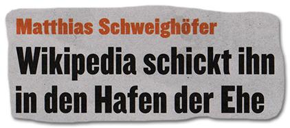 Matthias Schweighöfer - Wikipedia schickt ihn in den Hafen der Ehe