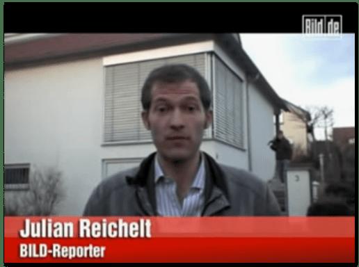 Screenshot eines Bild.de-Videos, in dem Julian Reichelt in Winnenden zu sehen ist