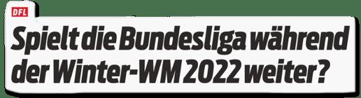 Ausriss Sport Bild - Spielt die Bundesliga während der Winter-WM 2022 weiter?
