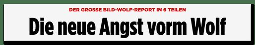 Screenshot Bild.de: Die neue Angst vorm Wolf