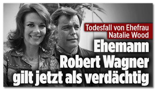 Screenshot Bild.de - Todesfall von Ehefrau Natalie Wood - Ehemann Robert Wagner gilt jetzt als verdächtig