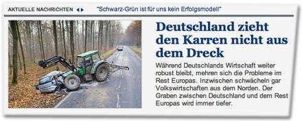 Deutschland zieht den Karren nicht aus dem Dreck