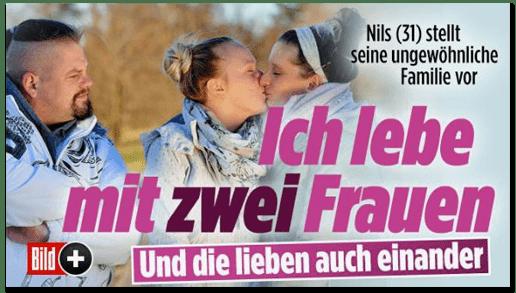Screenshot Bild.de - Nils (31) stellt seine ungewöhnliche Familie vor - Ich lebe mit zwei Frauen - Und die lieben auch einander